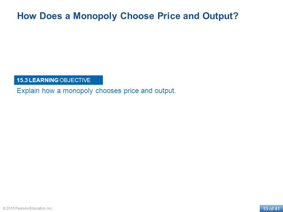 How Does a Monopoly Choose Price and Output
