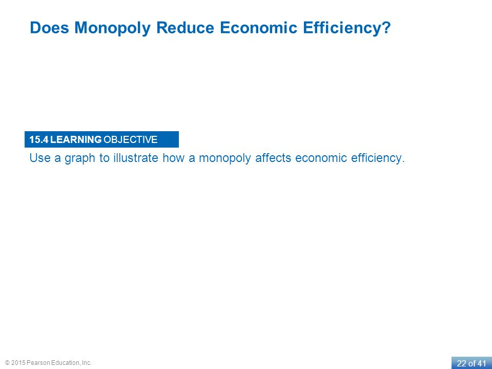 Does Monopoly Reduce Economic Efficiency