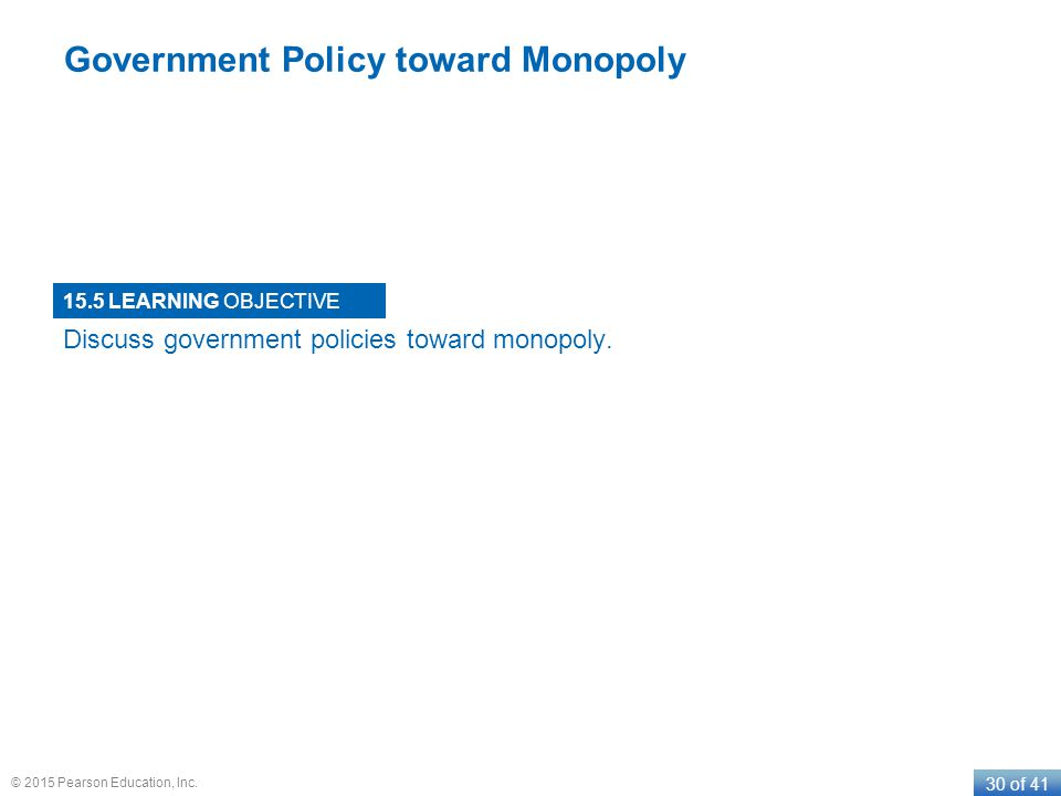 Government Policy toward Monopoly
