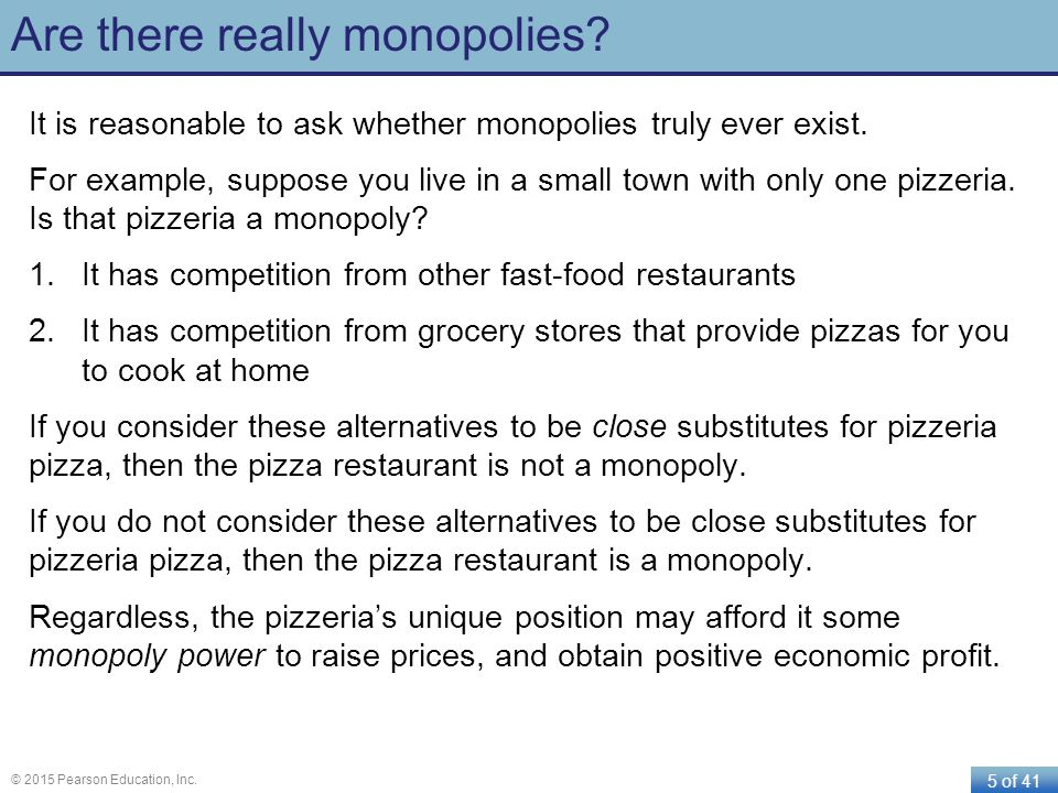 Are there really monopolies