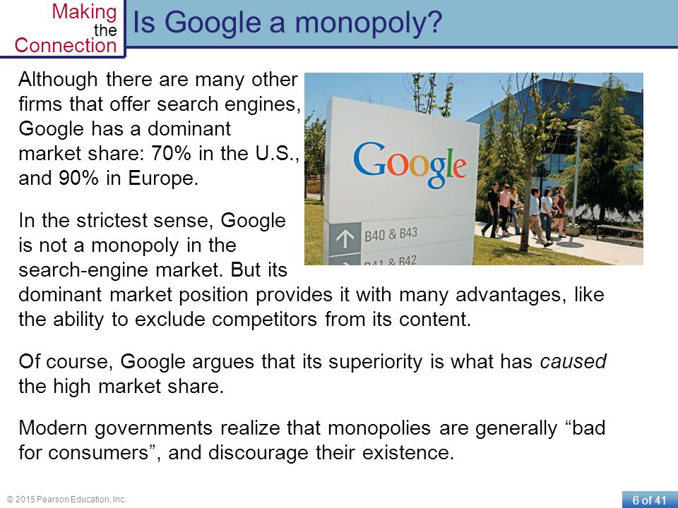 Is Google a monopoly