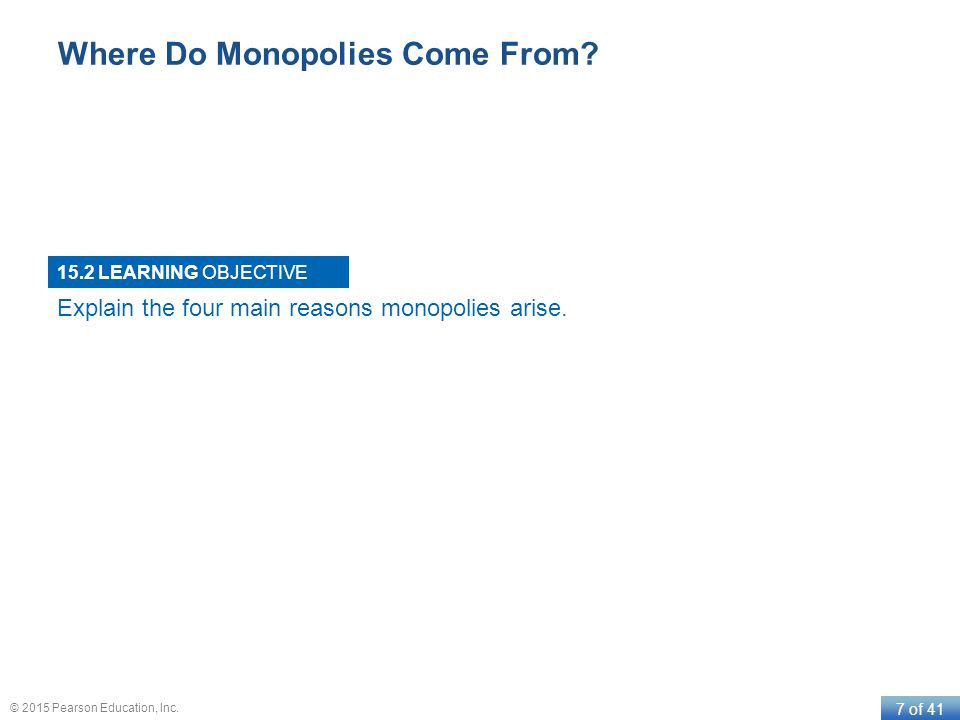 Where Do Monopolies Come From