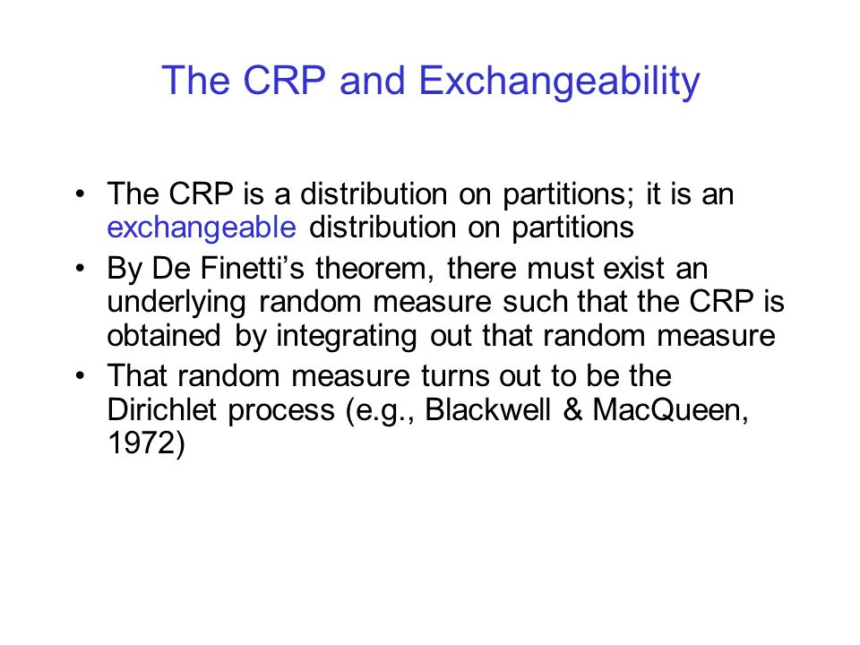 The CRP and Exchangeability