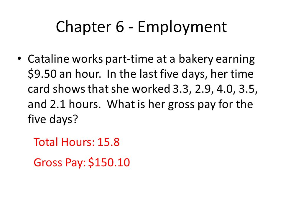 Chapter 6 - Employment