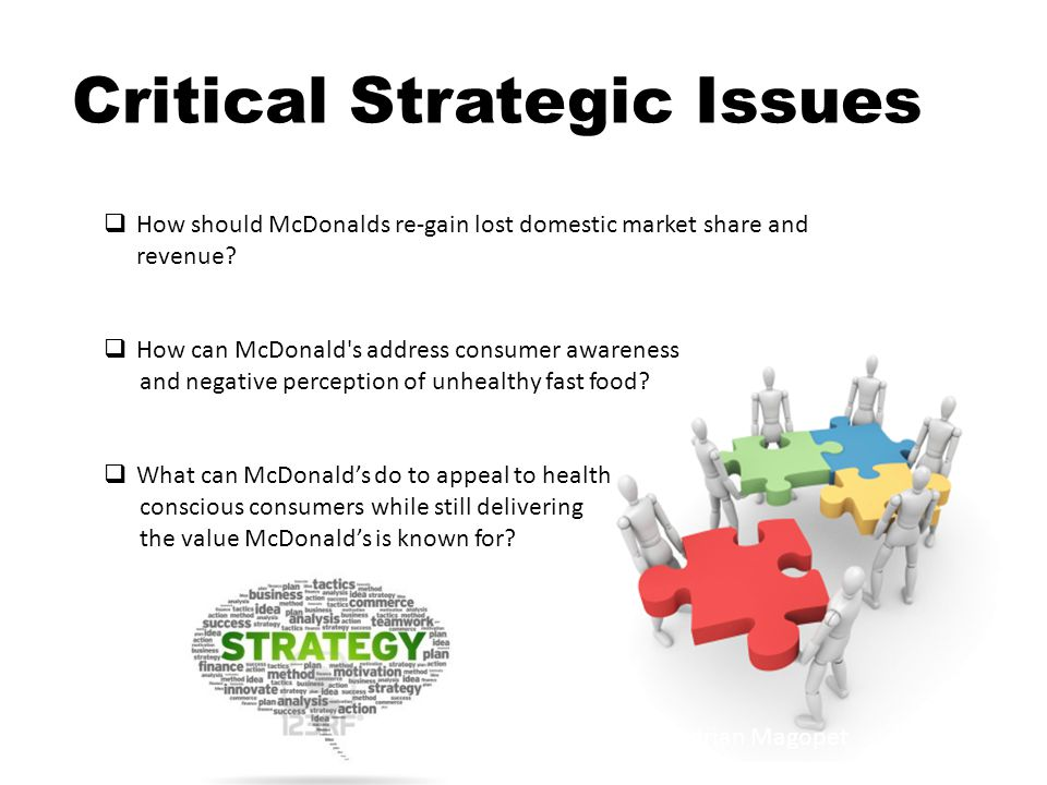 Critical Strategic Issues