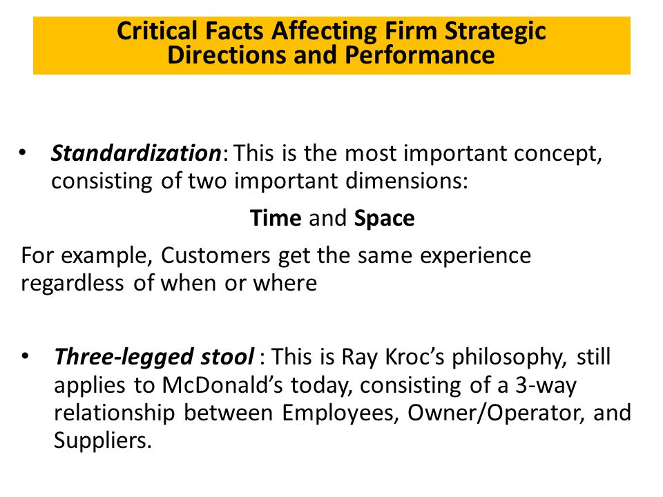 Critical Facts Affecting Firm Strategic Directions and Performance