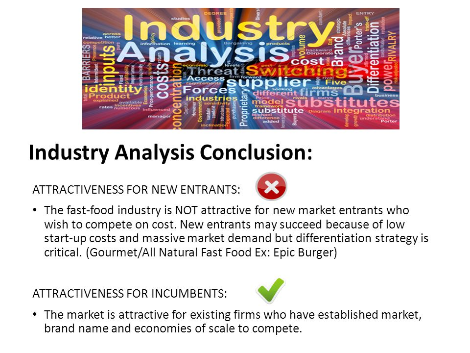 Industry Analysis Conclusion: