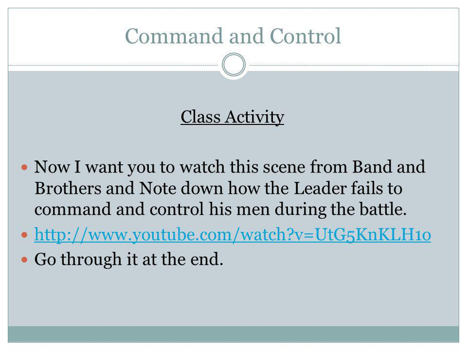 Command and Control Class Activity