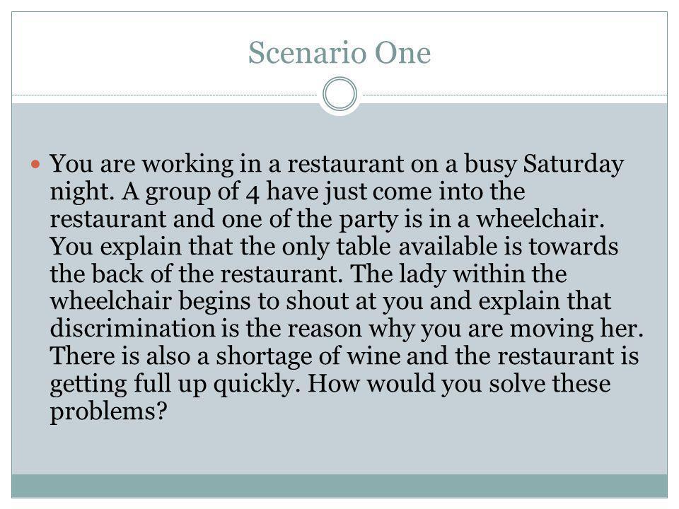 Scenario One