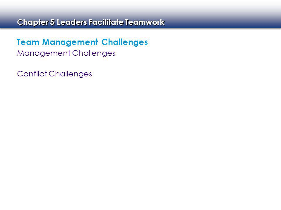 Team Management Challenges