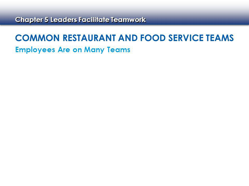 Common Restaurant and Food service Teams