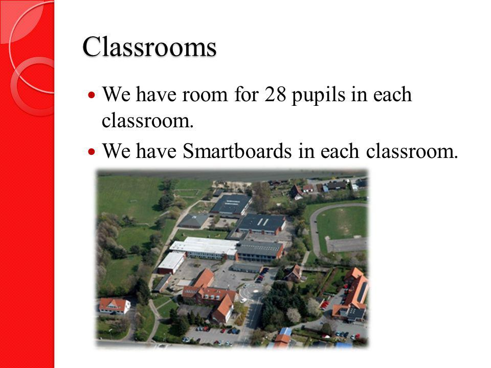 Classrooms We have room for 28 pupils in each classroom.