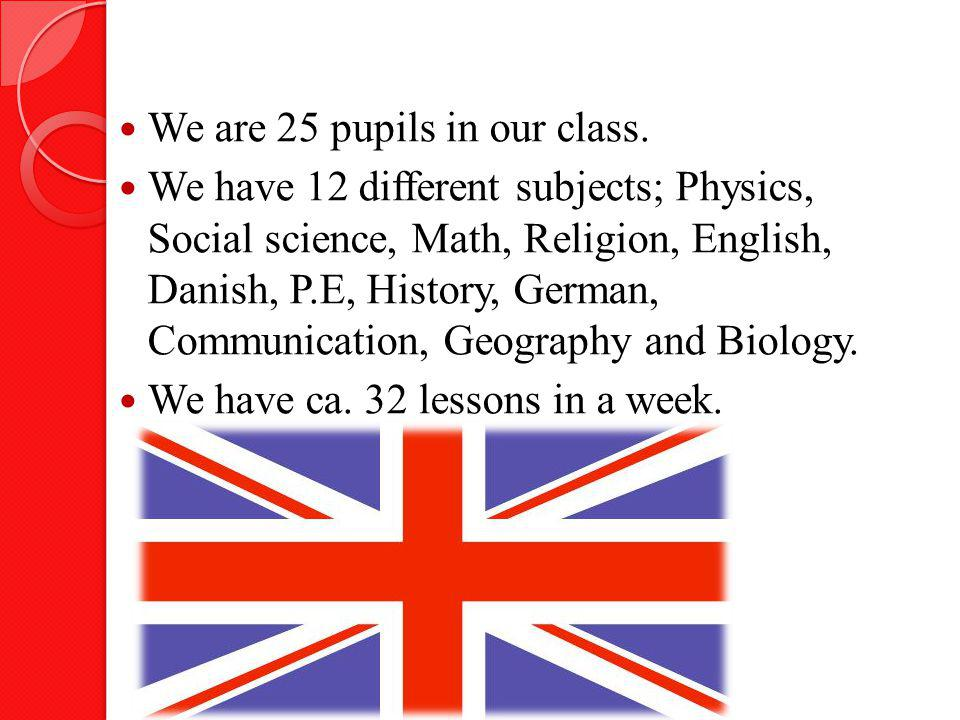 We are 25 pupils in our class.