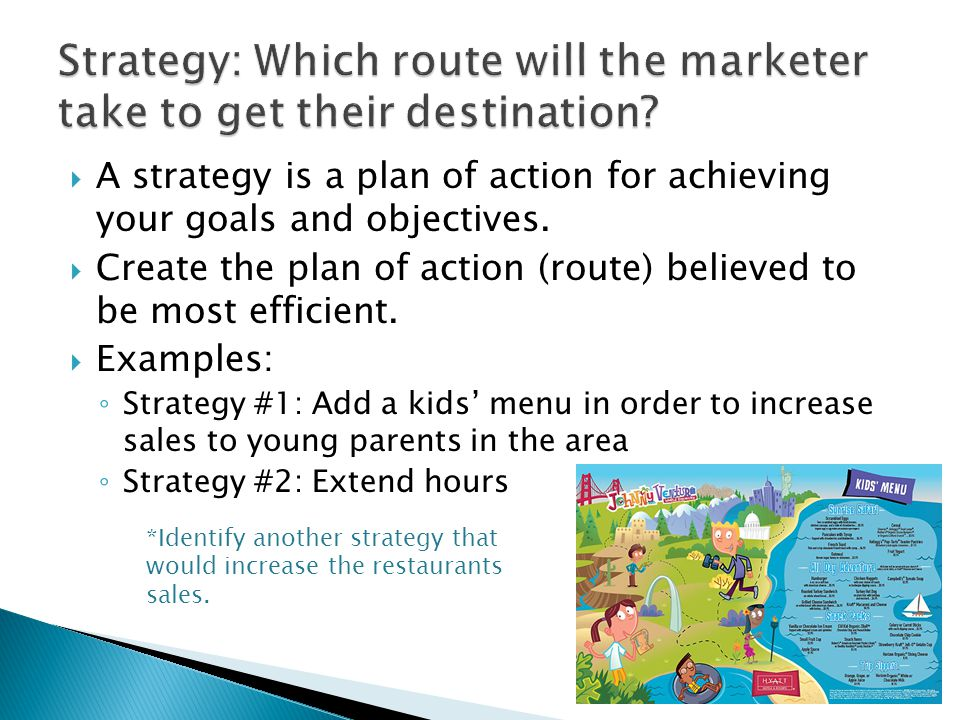 Strategy: Which route will the marketer take to get their destination