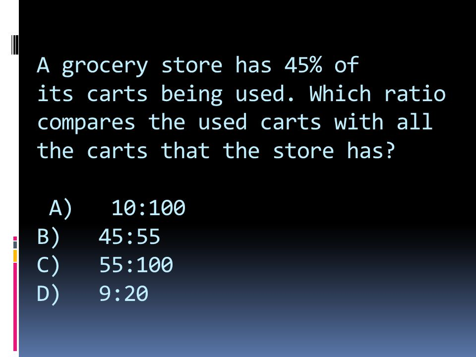 A grocery store has 45% of its carts being used