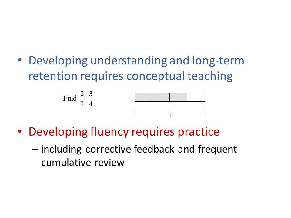 Developing fluency requires practice