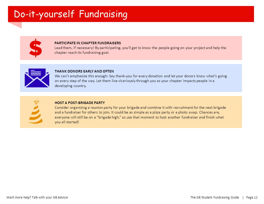 Do-it-yourself Fundraising