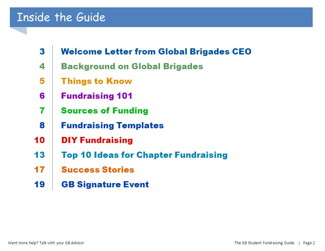 Inside the Guide 3 Welcome Letter from Global Brigades CEO