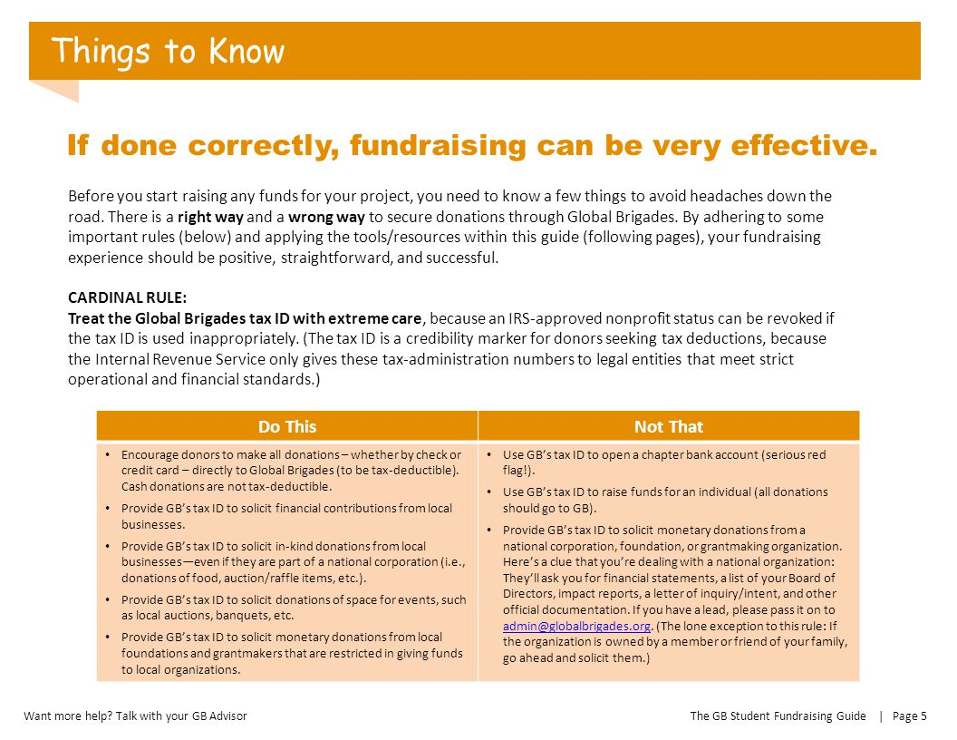 Things to Know If done correctly, fundraising can be very effective.