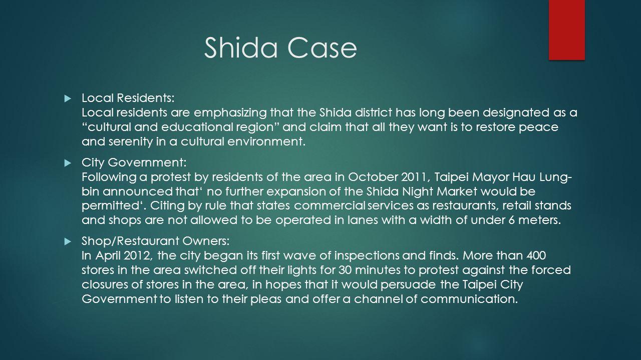 Shida Case