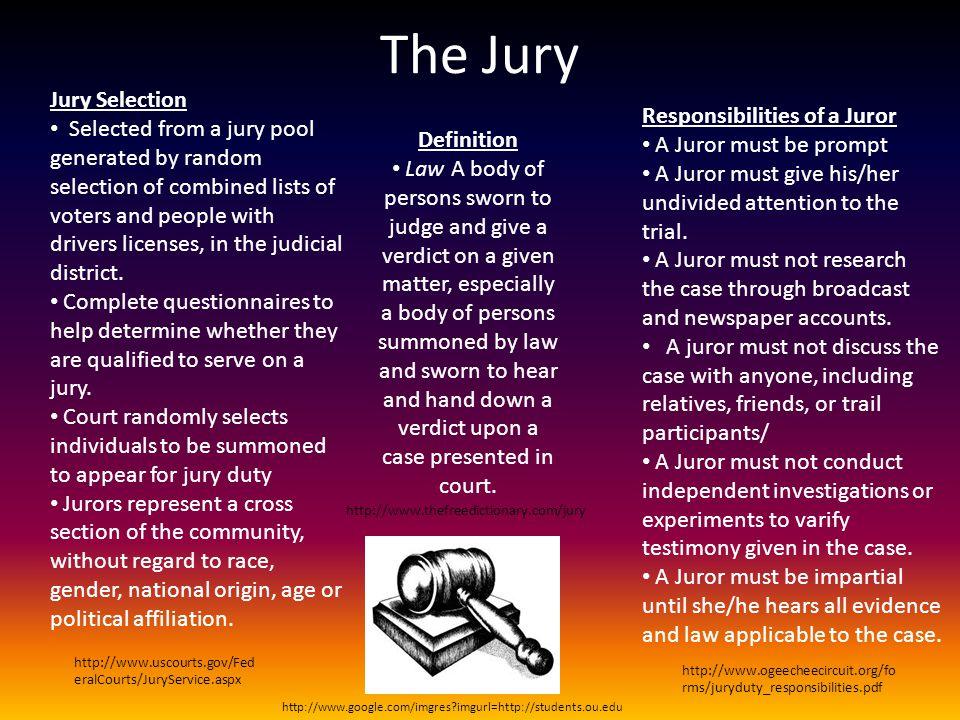 The Jury Jury Selection