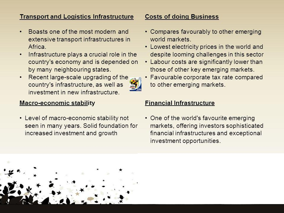 Transport and Logistics Infrastructure