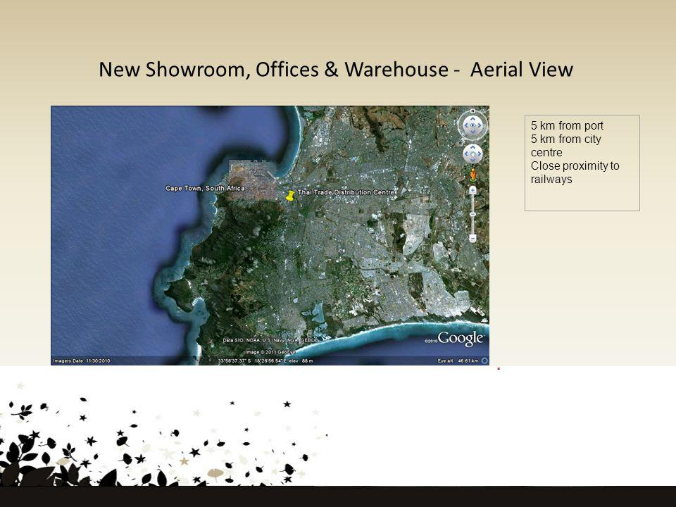 New Showroom, Offices & Warehouse - Aerial View