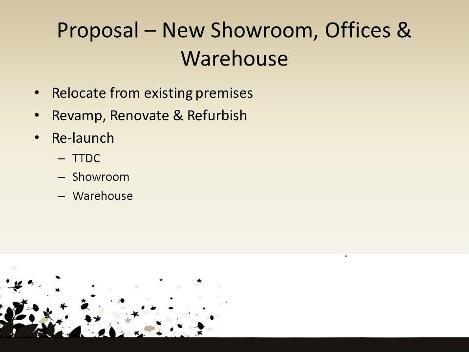 Proposal – New Showroom, Offices & Warehouse