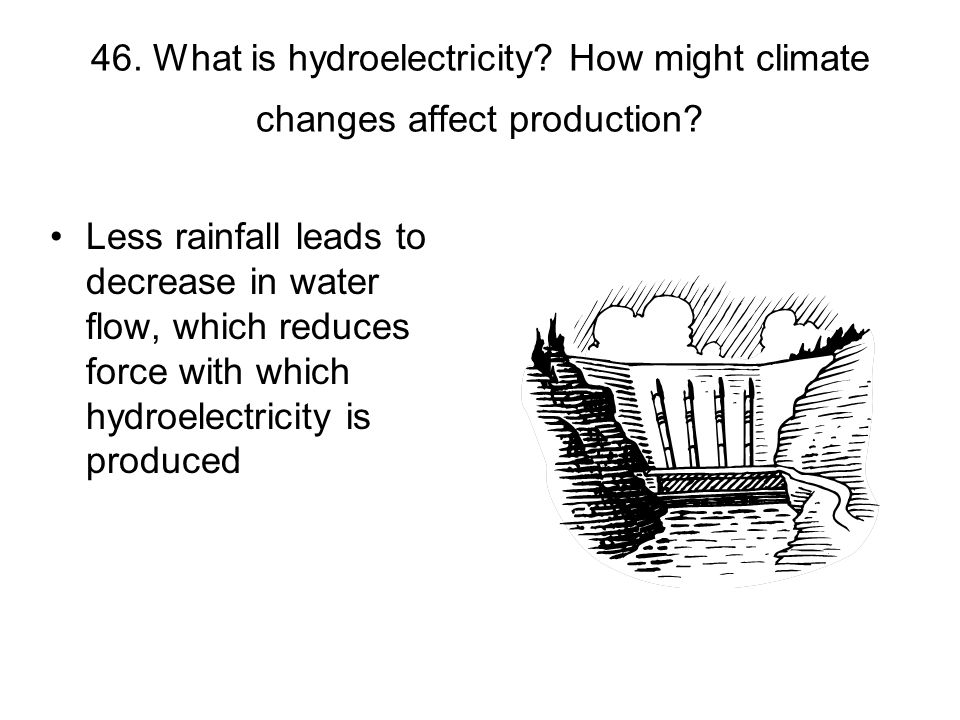 46. What is hydroelectricity