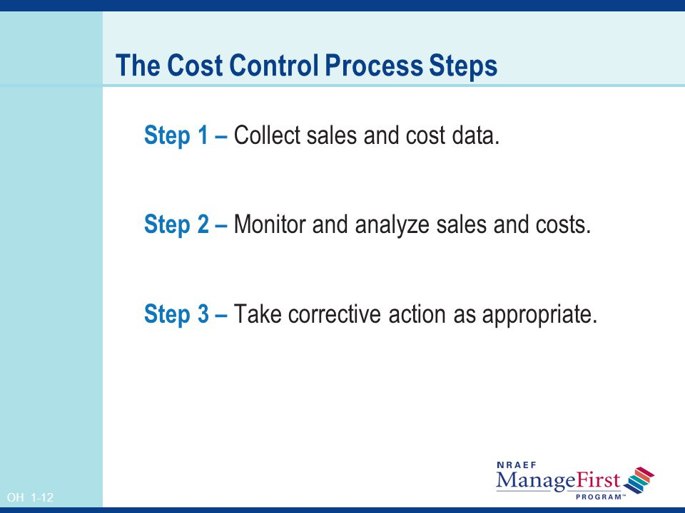 The Cost Control Process Steps