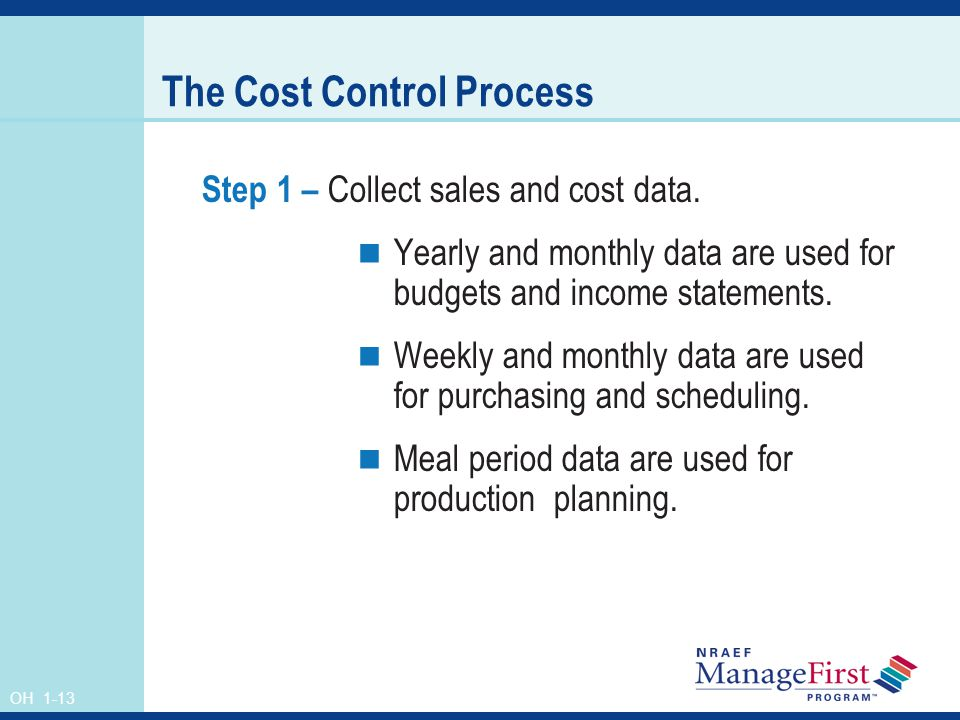 The Cost Control Process