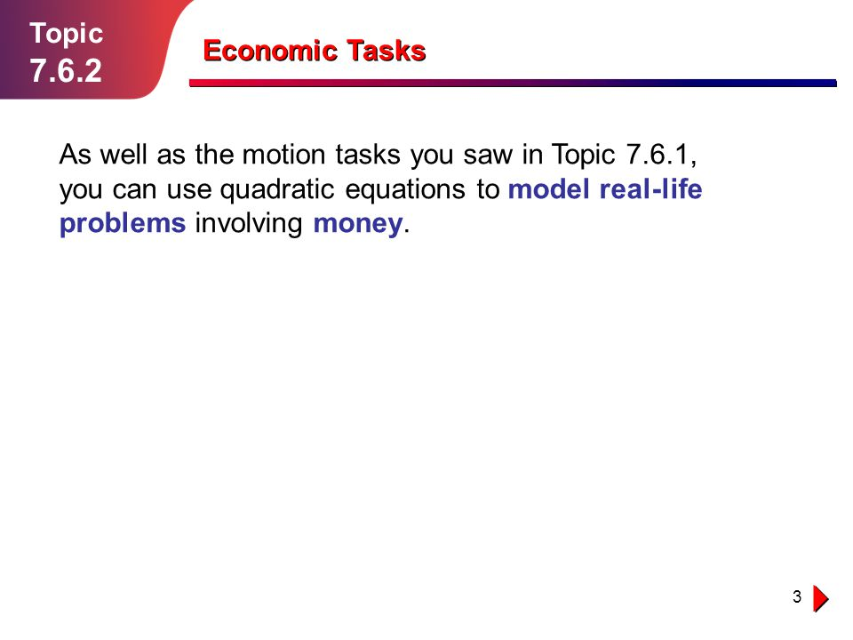 Topic 7.6.2. Economic Tasks.