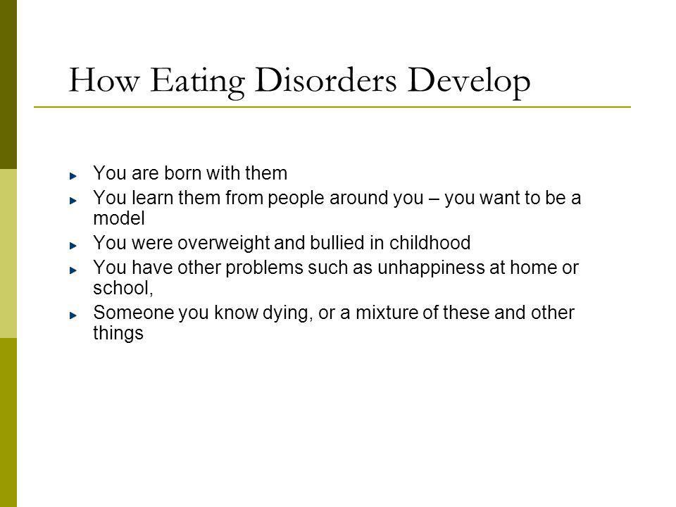 How Eating Disorders Develop