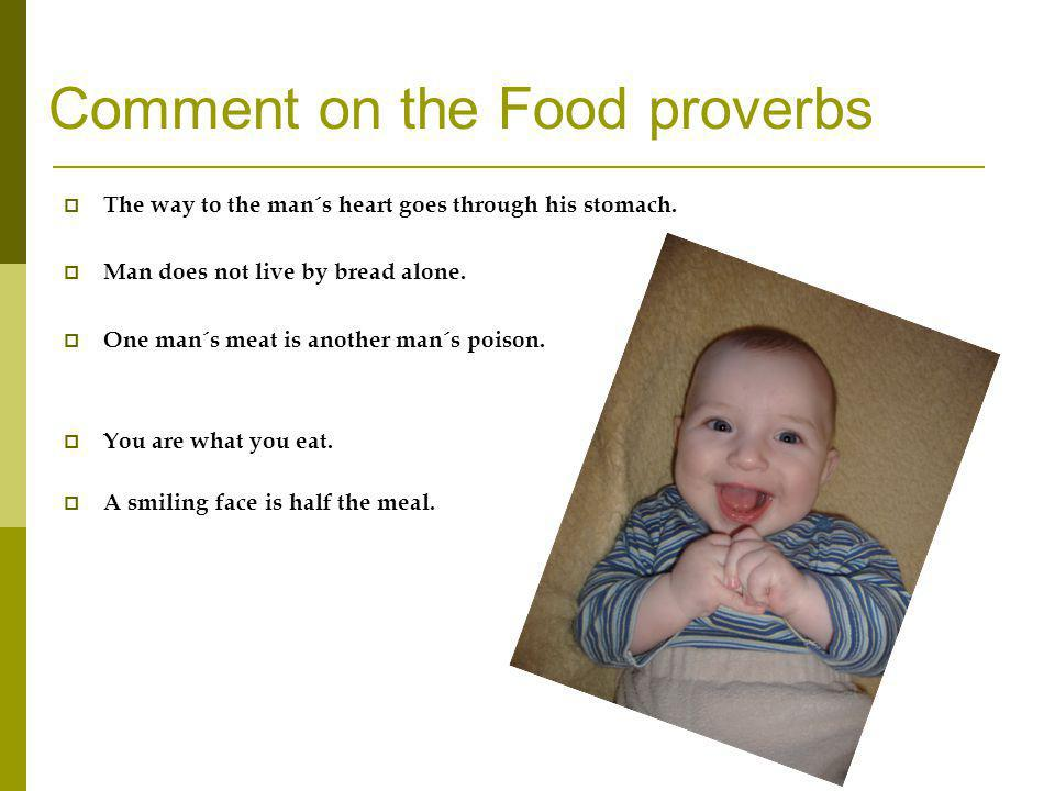 Comment on the Food proverbs