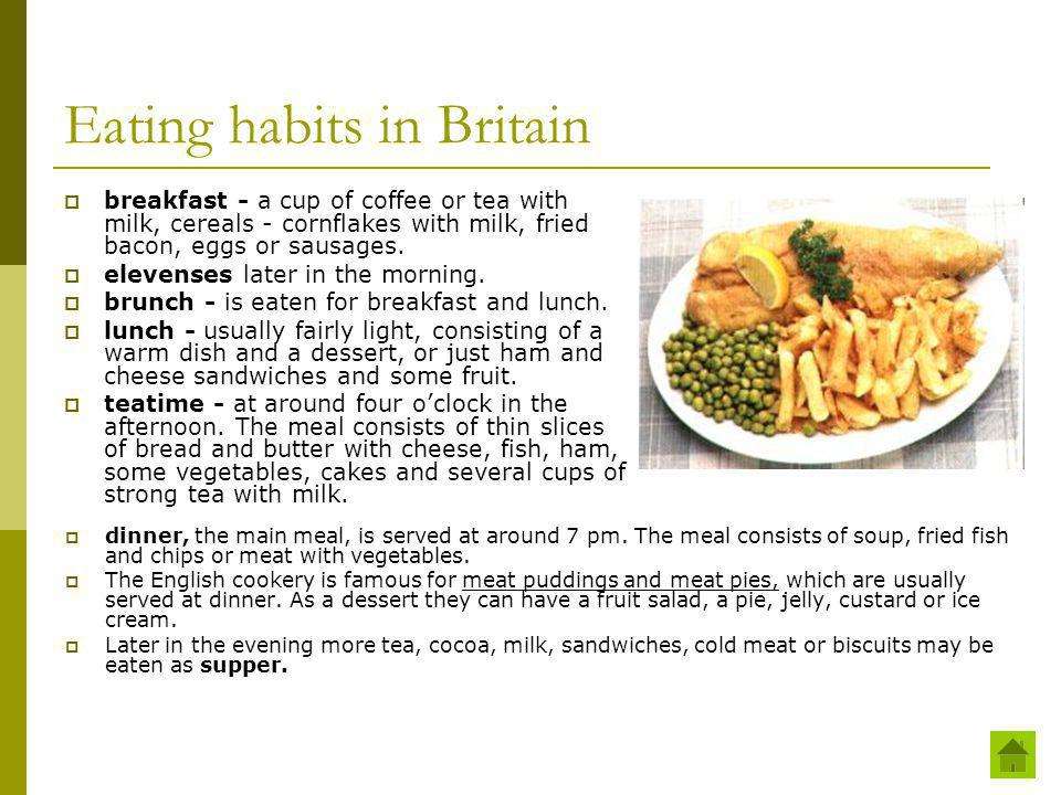 Eating habits in Britain