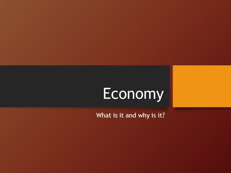 Economy What is it and why is it