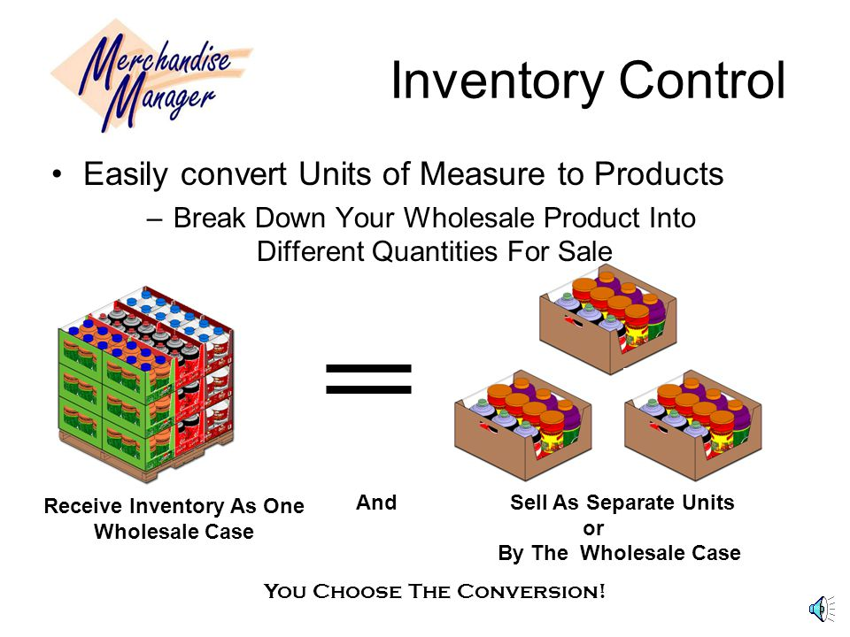 Receive Inventory As One Wholesale Case