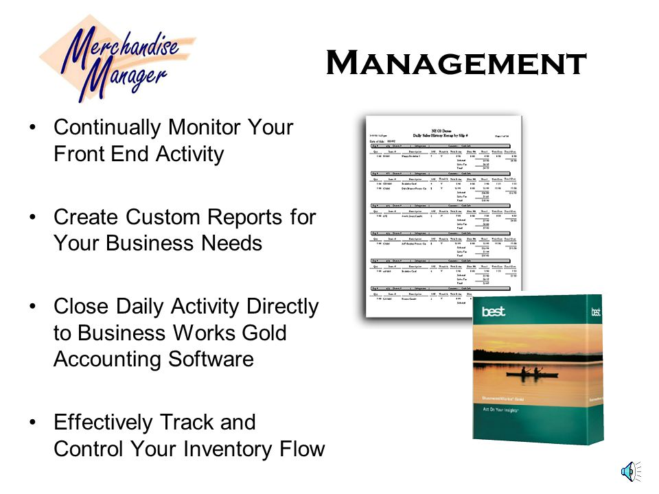 Management Continually Monitor Your Front End Activity