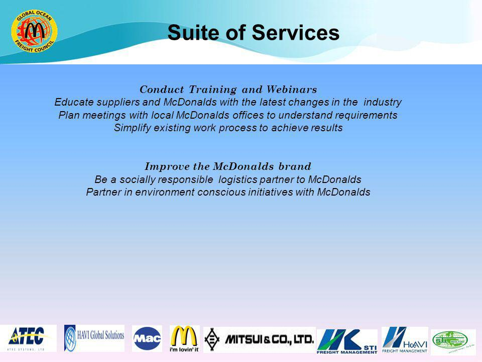 Conduct Training and Webinars Improve the McDonalds brand