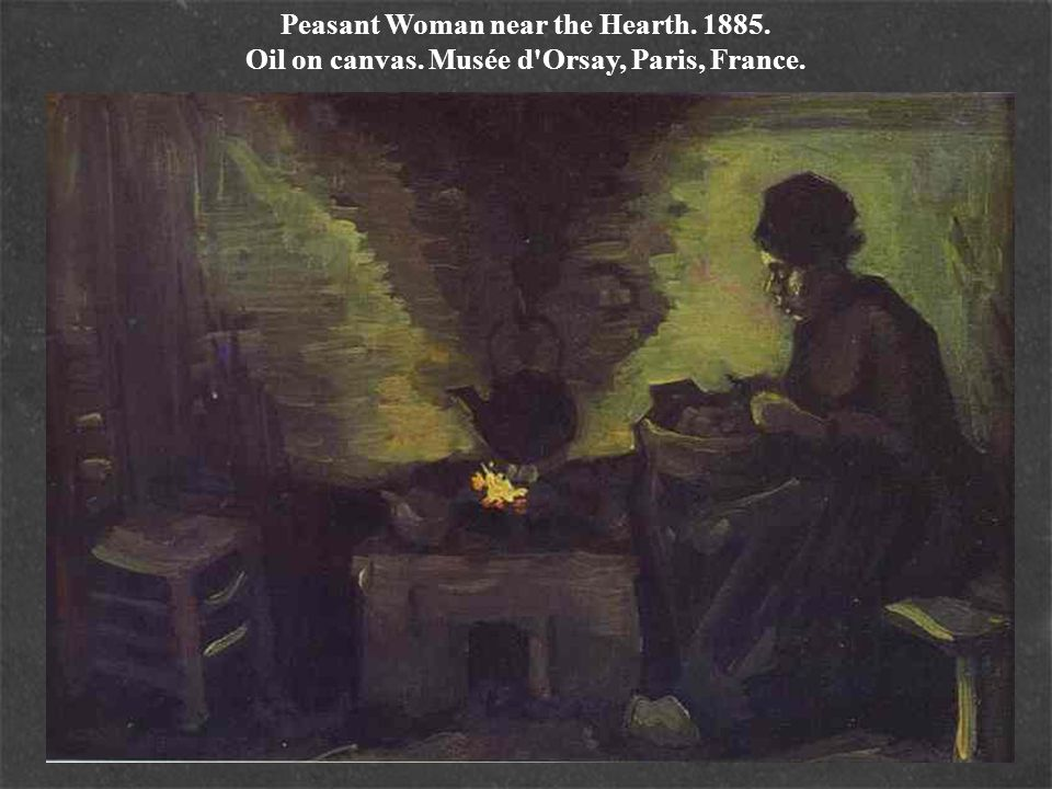Peasant Woman near the Hearth. 1885. Oil on canvas