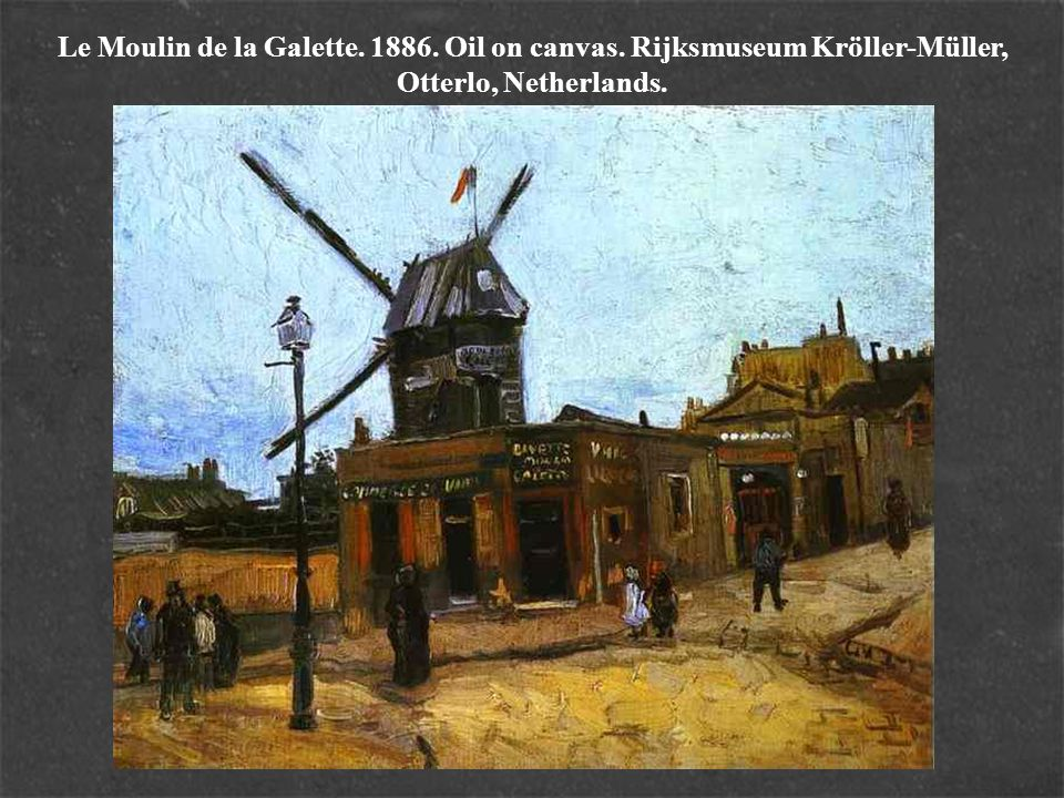 Le Moulin de la Galette. 1886. Oil on canvas