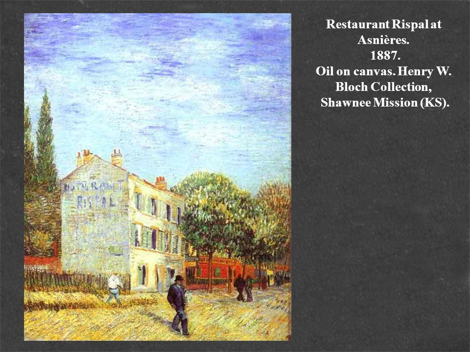 Restaurant Rispal at Asnières. 1887. Oil on canvas. Henry W