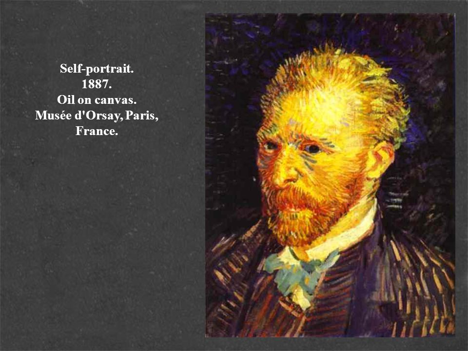 Self-portrait. 1887. Oil on canvas. Musée d Orsay, Paris, France.