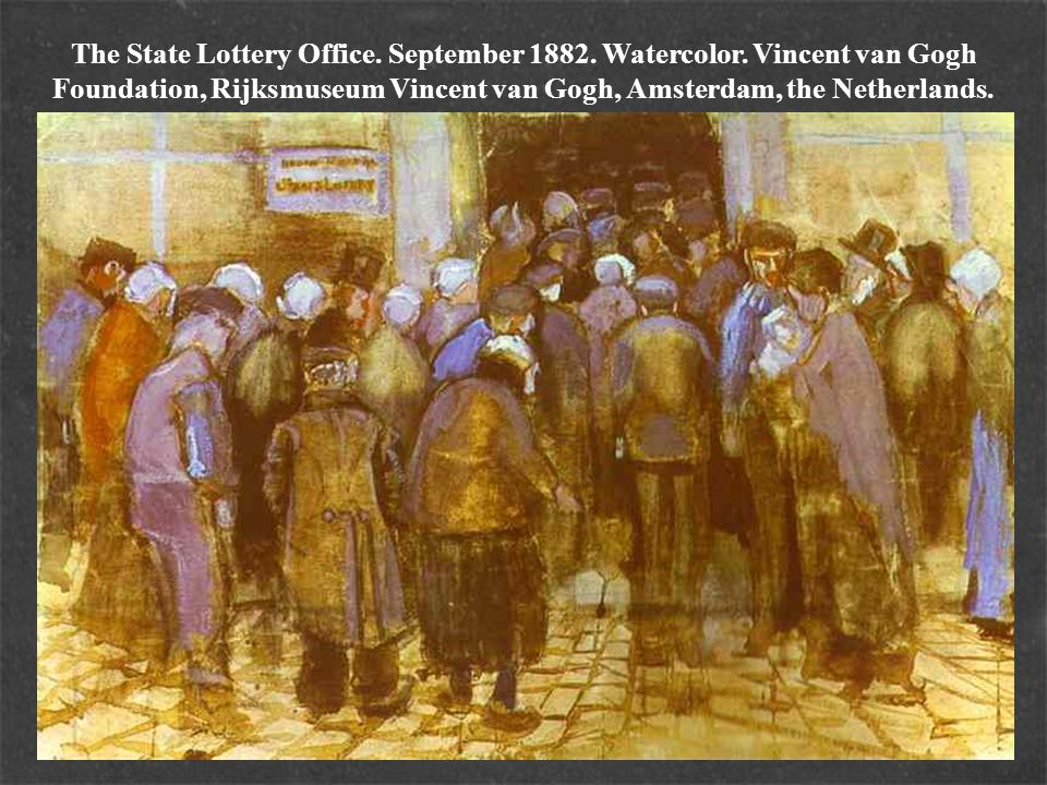 The State Lottery Office. September 1882. Watercolor