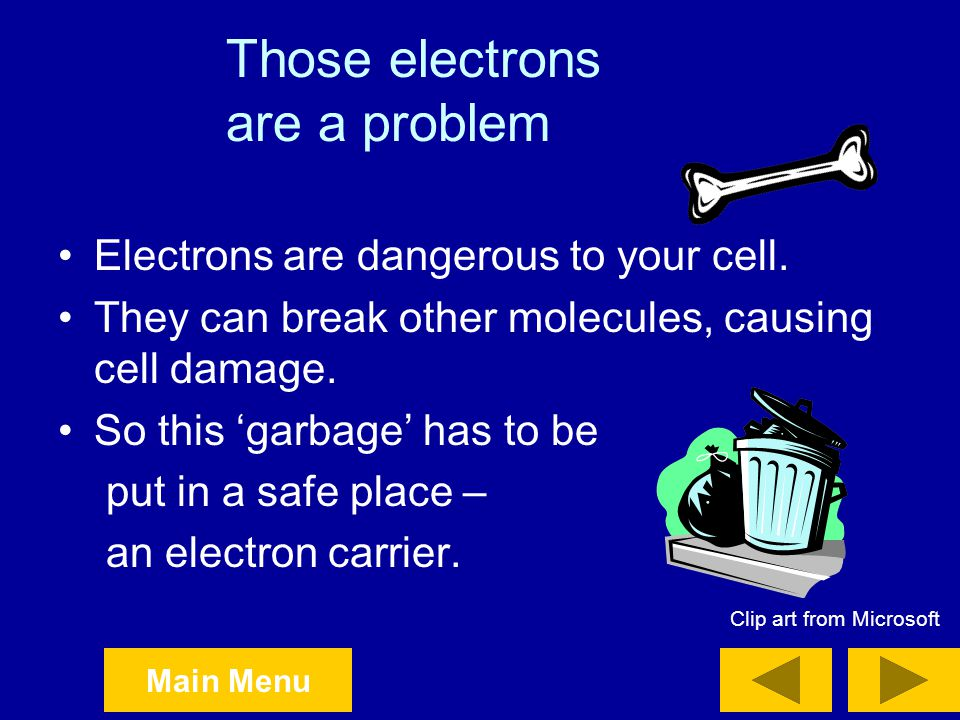 Those electrons are a problem