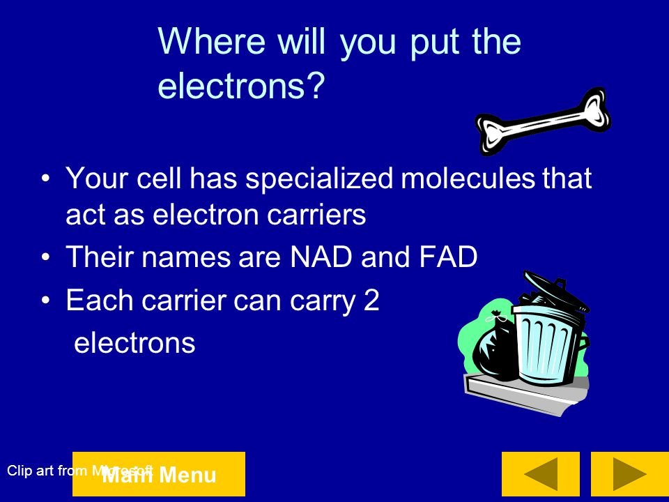 Where will you put the electrons