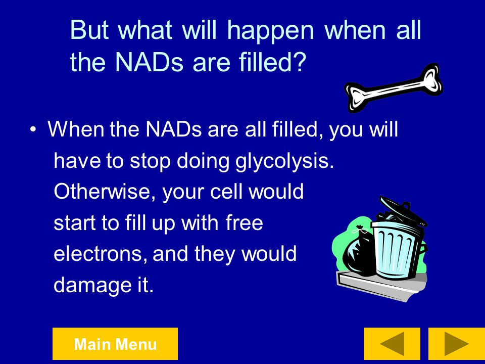 But what will happen when all the NADs are filled
