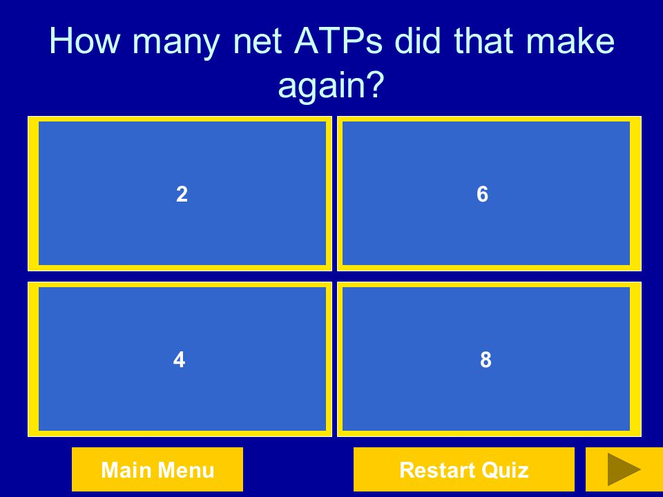 How many net ATPs did that make again