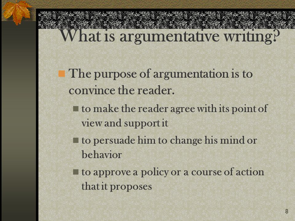 What is argumentative writing