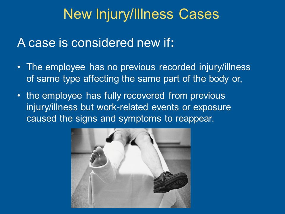 New Injury/Illness Cases